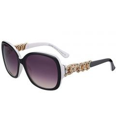 Worthy Cartier Bold Tigers Diamonds Temples Sunglasses SUGC020 Two-tone Frame