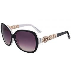 Gentry Girls Givenchy Jewels Decor Temples Oversized Sunglasses SUGV003 Purple Lenses