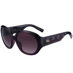 Dior Lady  Street Fashion Butterfly Oversized Sunglasses SUGD009 2 Plum  Designed Temples