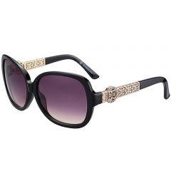 Givenchy Gold Diamonds Decor Temples Sunglasses SUGV001 Classy Black Frame