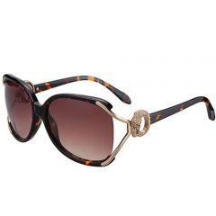 Cartier Panther Diamonds Charming Couples Sunglasses Fake SUGC019 Celebrity Tortoise Frame