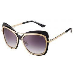 Dior Bold Style Dual Bridges Glisten Gold Temples Sunglasses SUGD002 Popualr Cat-Eye Frame